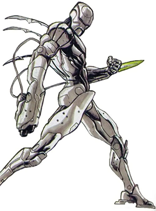 Shaolin Robot of the Great 10 (DC Comics) with wrist blade out