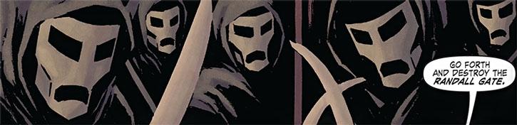Shaolin Terror Priests masks closeup