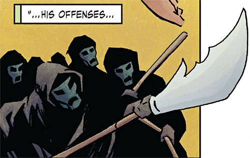 Shaolin Terror Priests (Iron Fist Marvel Comics) with polearms