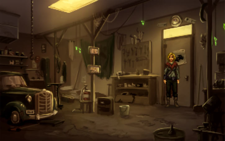 Shardlight screenshot - Amy Wellard's garage