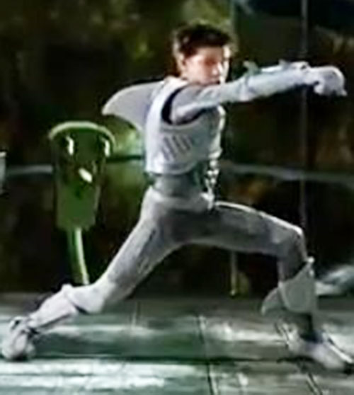 Sharkboy (Taylor Lautner in Sharkboy and Lavagirl) posing in costume