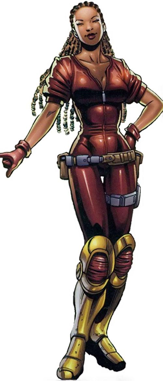 Shassa (Negation Crossgen comics) in a red jumpsuit