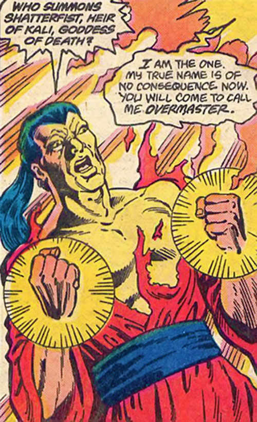 Shatterfist of the Cadre (JLA enemy) (DC Comics) in torn robes
