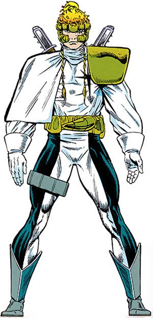 Shatterstar of X-Force (Marvel Comics) from the master edition handbook