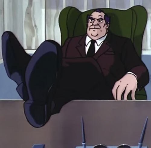Shawn Berger - Transformers cartoon villain - Feet on desk