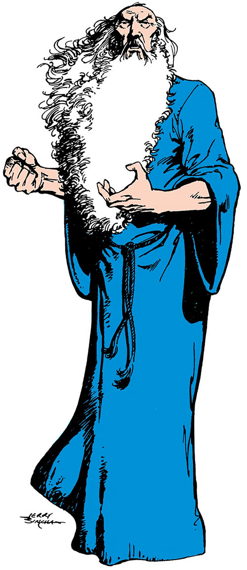 The wizard Shazam (DC Comics), over a white background