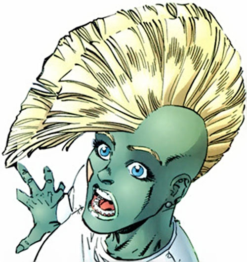 She-Dragon (Savage Dragon comics) face closeup with mohawk