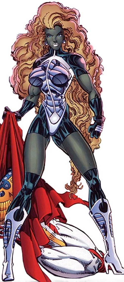 She-Dragon (Savage Dragon comics) with long hair