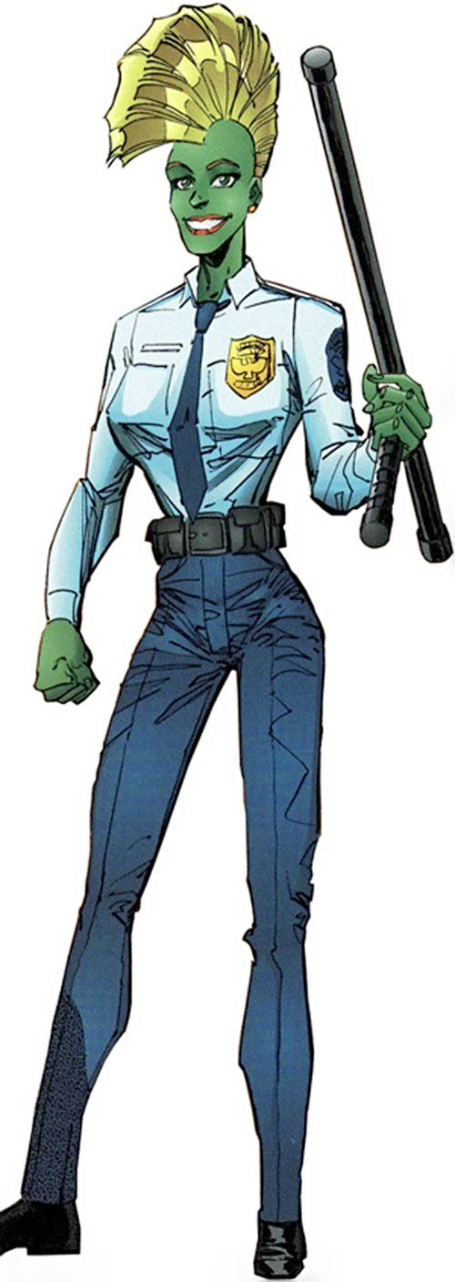 She-Dragon (Savage Dragon comics) in a police uniform