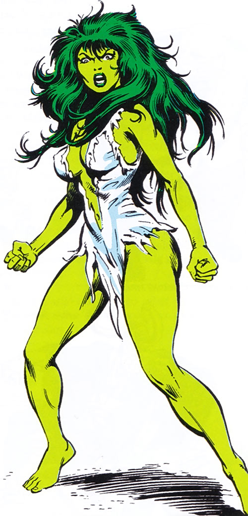 She-Hulk unused Bret Blevins art 1983 Marvel Comics Handbook