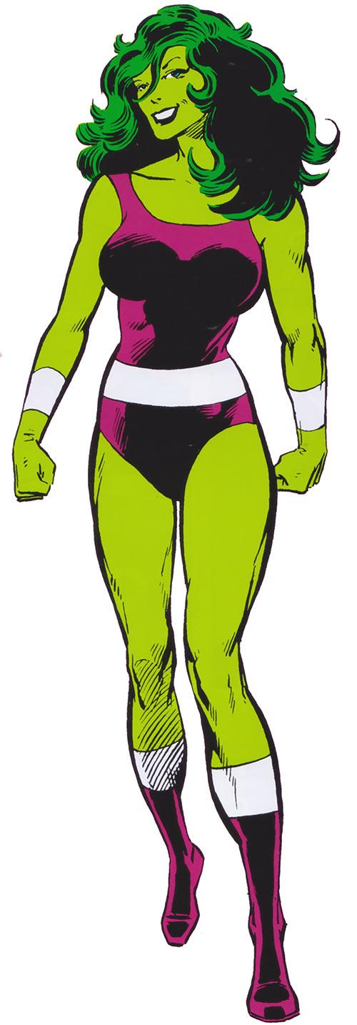 She-Hulk 1985 Marvel Comics handbook art Byrne