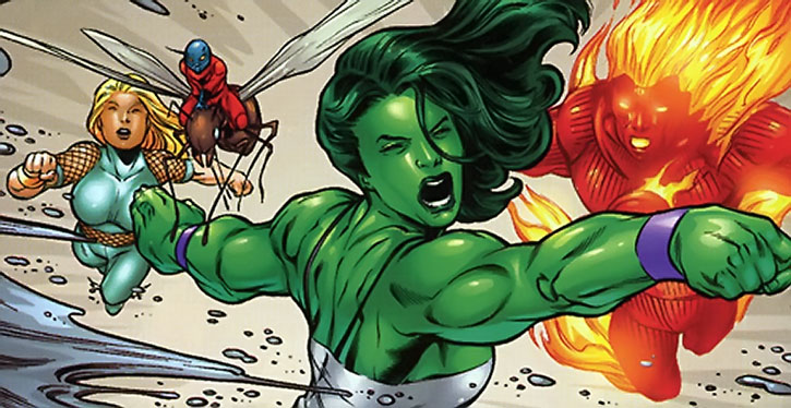 She-Hulk, Namorita, Ant-Man, Human Torch