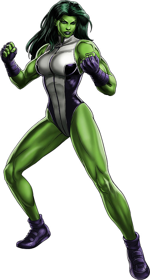 She-Hulk (Marvel Comics) ready to fight
