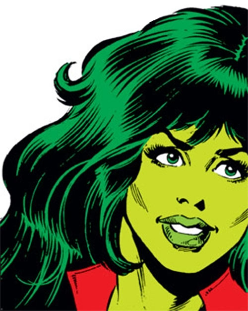 She-Hulk (Marvel Comics) face closeup