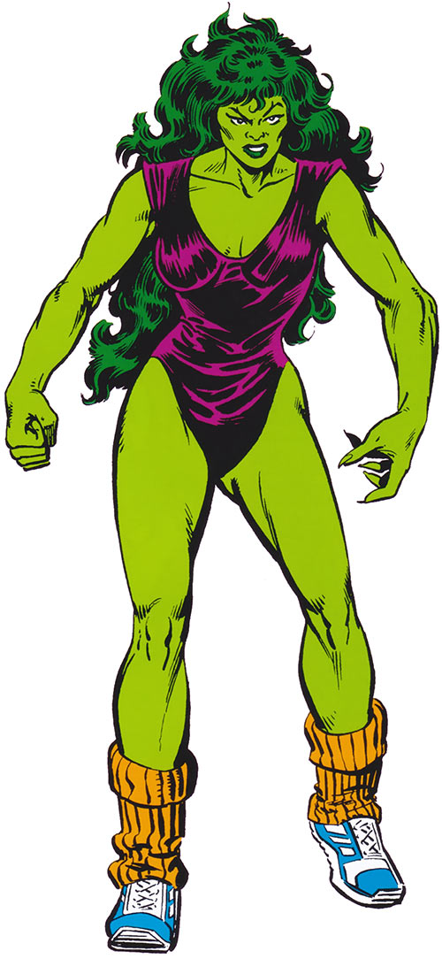She-Hulk 1983 Marvel Comics handbook art sports