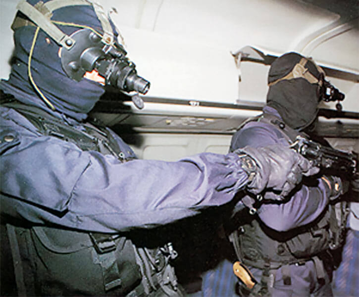 GIGN operative with Manhurin MR73 revolver
