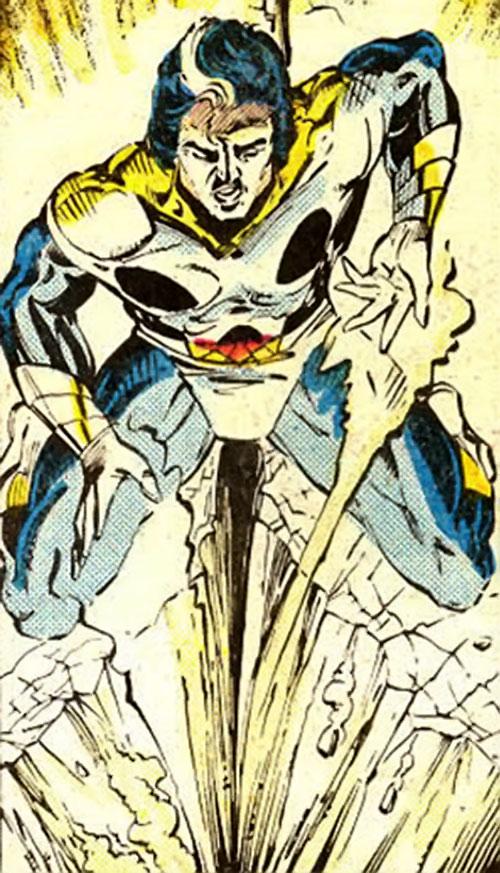 Shear (Strikeforce Morituri) using his powers