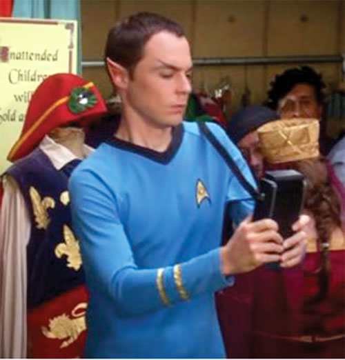 Sheldon Cooper (Jim Parson in Big Bang Theory) as Spock