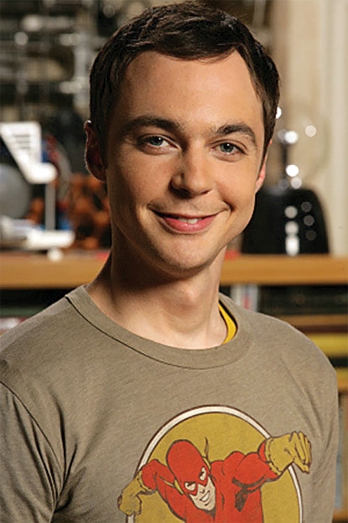 Sheldon Cooper (Jim Parson in Big Bang Theory)