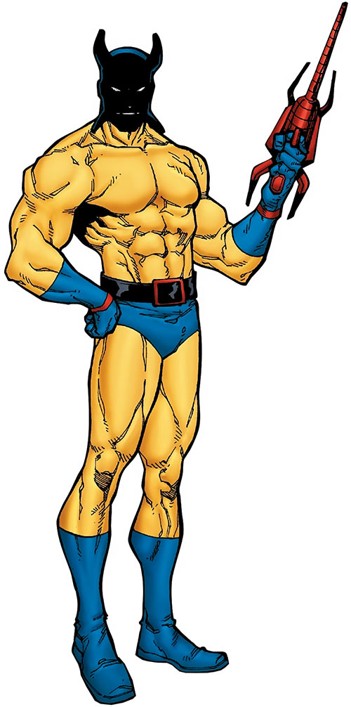 Shellshock (Marvel Comics) in the yellow costume