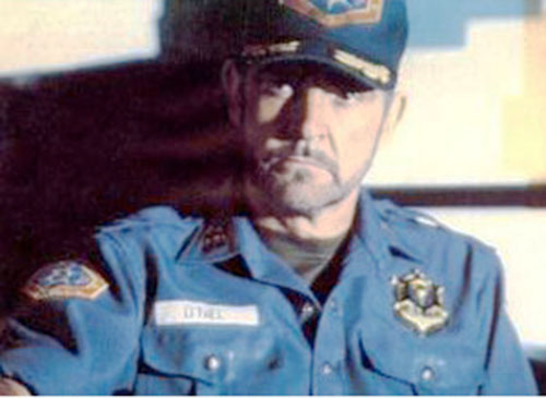 Sheriff O'Neil (Sean Connery in Outland) with his hat on