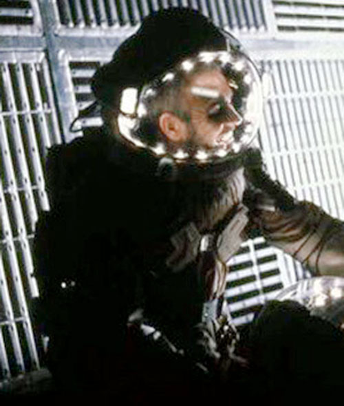 Sheriff O'Neil (Sean Connery in Outland) in a space suit