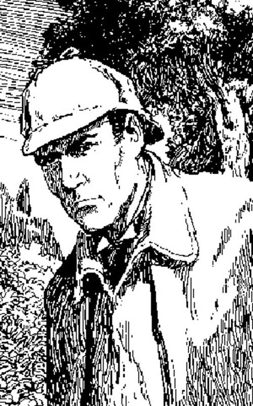 Sherlock Holmes woodprint