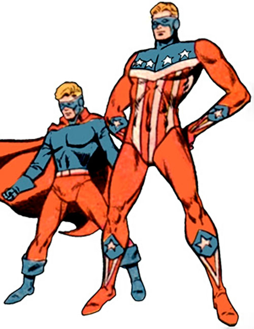 The Shield (Bill Higgins) and his sidekick (Archie Comics)