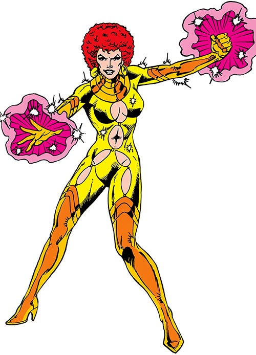 Shimmer (Teen Titans enemy, Fearsome Five) over a white background