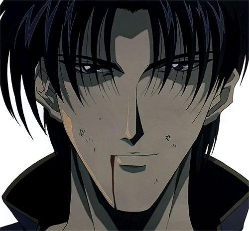 Shinomori Aoshi (Rurouni Kenshin) face closeup