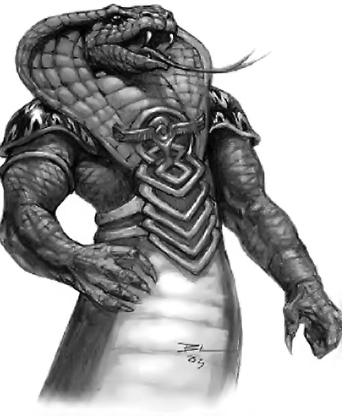 Shissar (Everquest) darting its tongue out