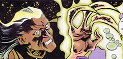 Shiv (Argus enemy) (DC Comics) face closeup