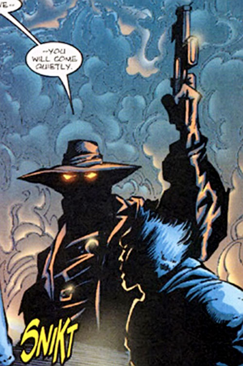 Shiver Man (Marvel Comics) arresting Wolverine