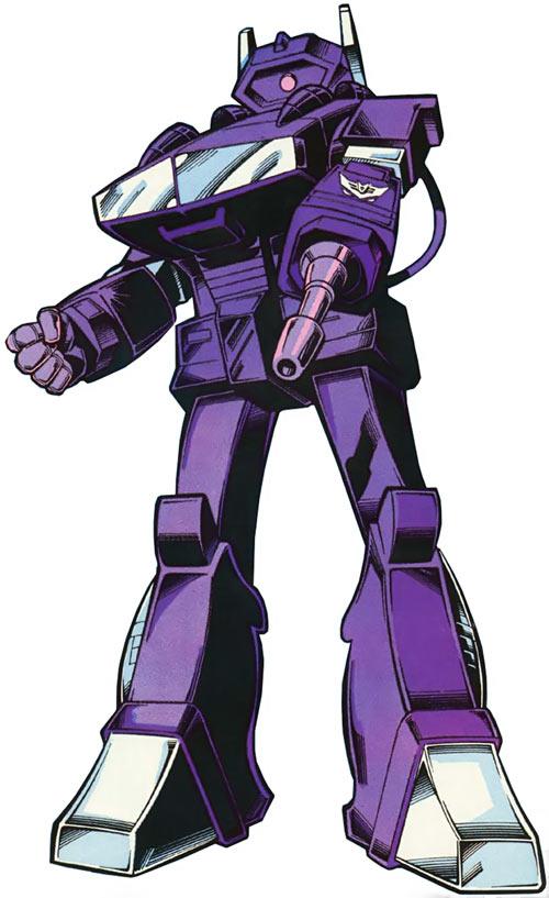 Shockwave of the Transformers (Marvel Comics G1 version) intense purple