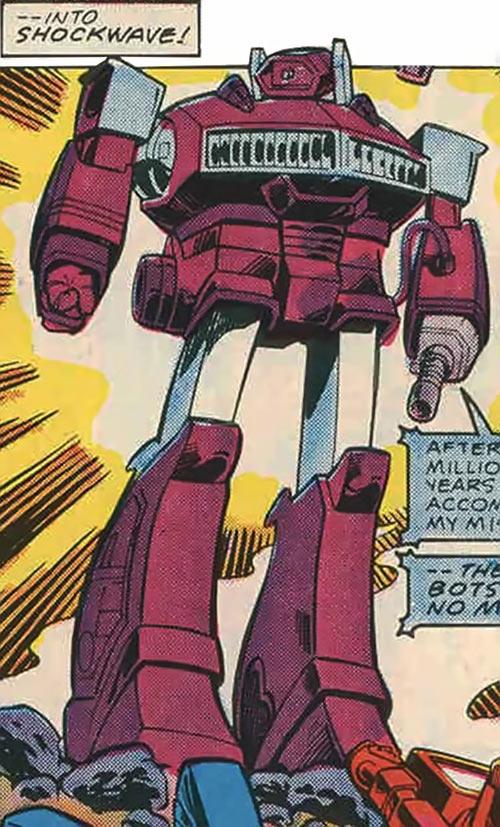 Shockwave of the Transformers (Marvel Comics G1 version) flashy