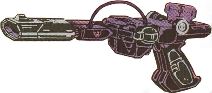 Shockwave of the Transformers (Marvel Comics G1 version) in pistol mode
