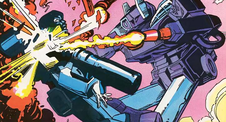 Shockwave of the Transformers (Marvel Comics G1 version) vs. Megatron