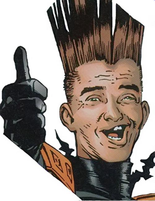 Short Fuse of Strikeback! (Bravura and Image comics) face closeup