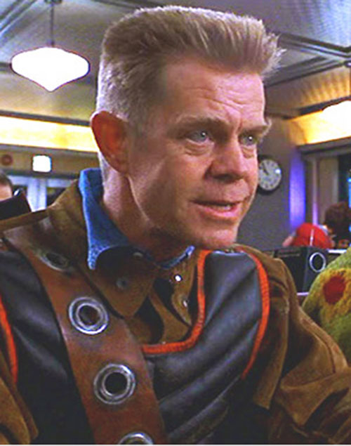 Shoveler (William Macy in Mystery Men) face closeup without helmet