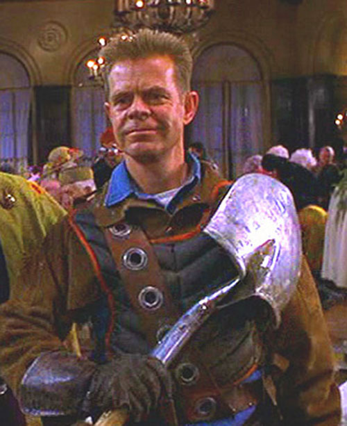 Shoveler (William Macy in Mystery Men) mingling