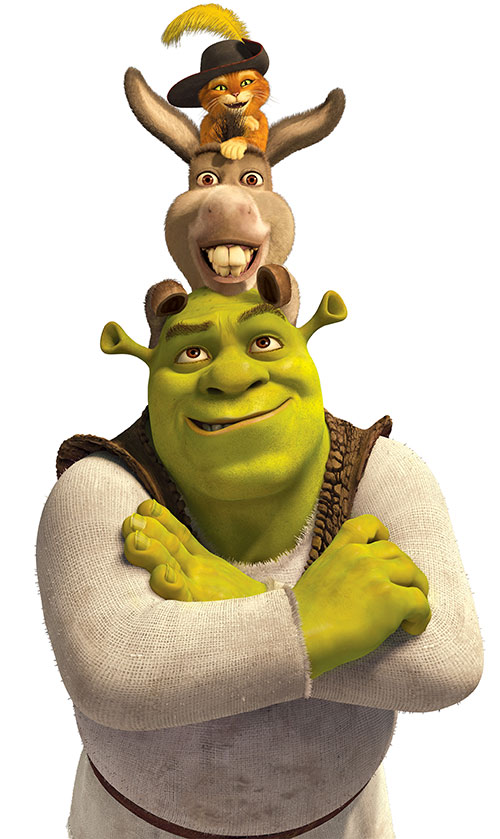 Shrek (Dreawworks movie ogre) and friends