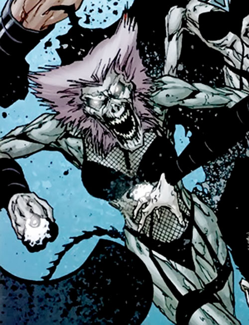 Shrike of the Cadre and Suicide Squad (DC Comics) as a zombie