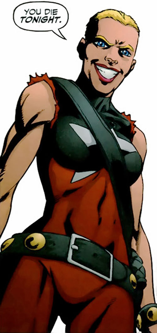 Sickle of the People's Heroes (DC Comics) in a brown costume