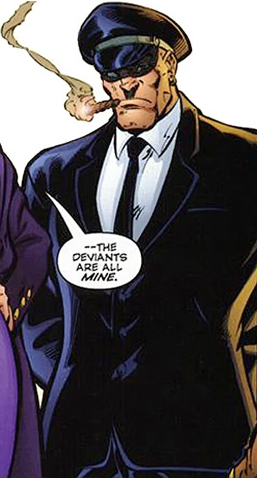 Sideways Bob (DV8) (Wildstorm Comics) in a chauffeur outfit