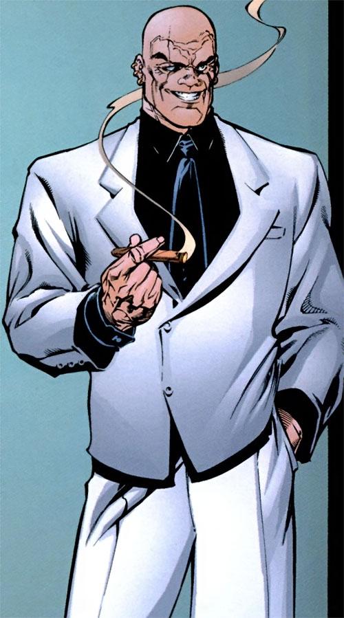 Sideways Bob (DV8) (Wildstorm Comics) in a white suit