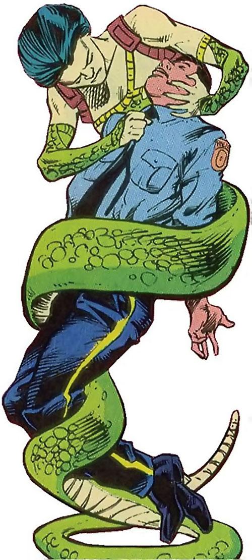 Sidewinder of Task Force X (Suicide Squad enemy) (DC Comics) vs. a cop