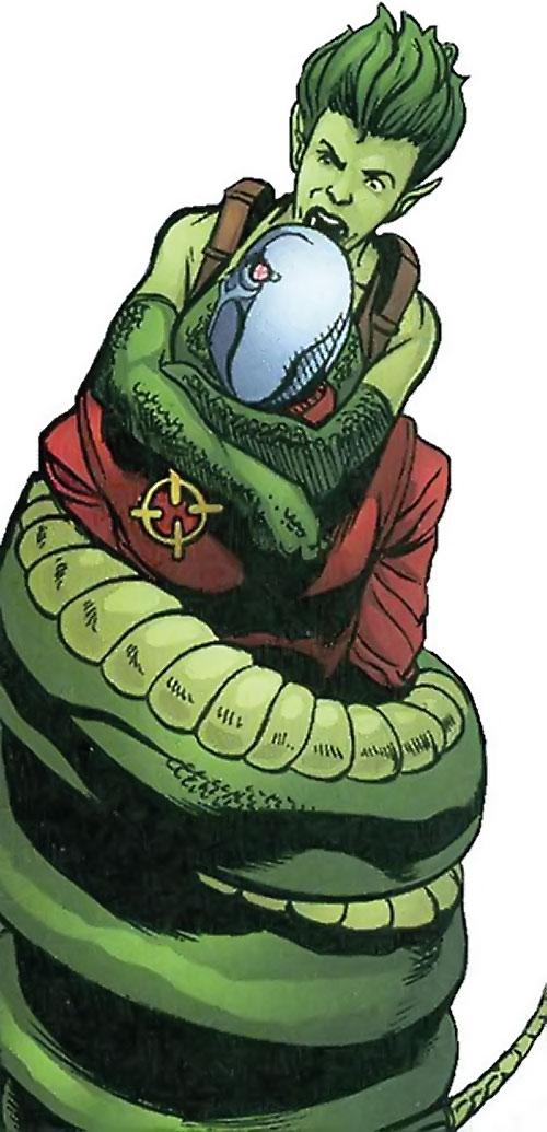 Sidewinder of Task Force X (Suicide Squad enemy) (DC Comics) vs. Deadshot