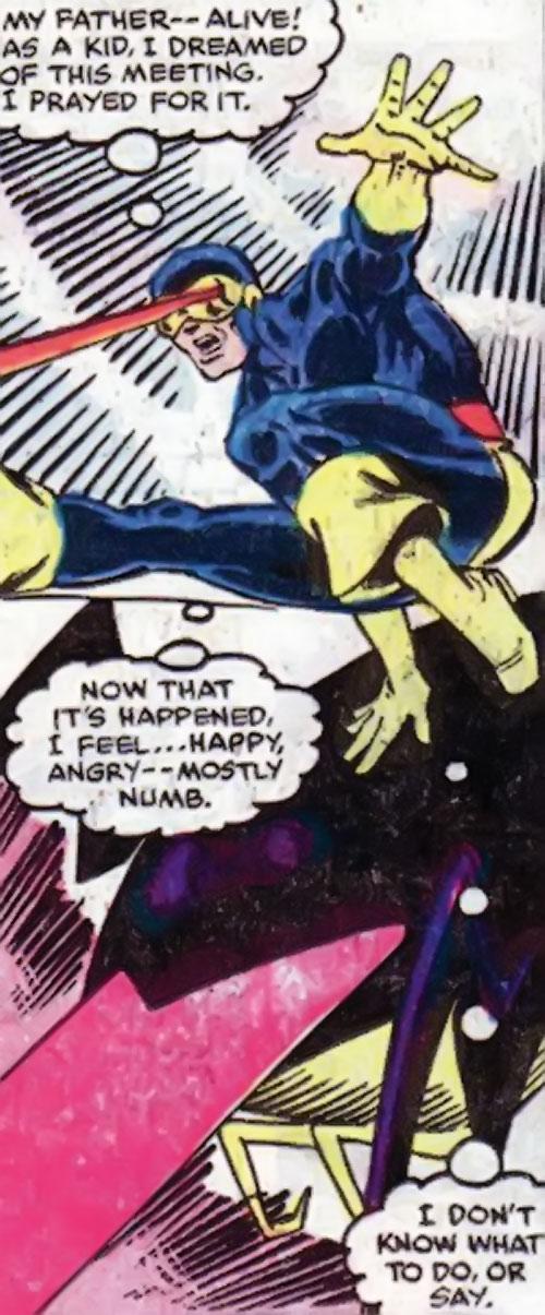 Sidri / Sidrian Hunters (X-Men aliens) (Marvel Comics) vs. Cyclops