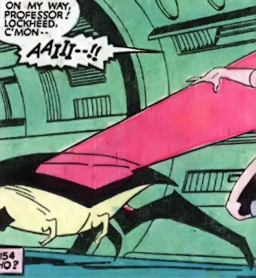 Sidri / Sidrian Hunters (X-Men aliens) (Marvel Comics) - hatchling firing its beam