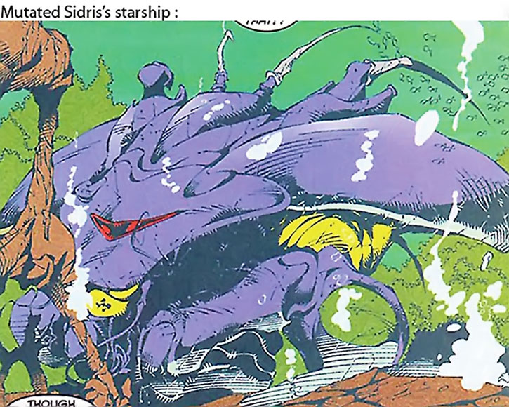 The starship used by the mutated sidri in Excalibur